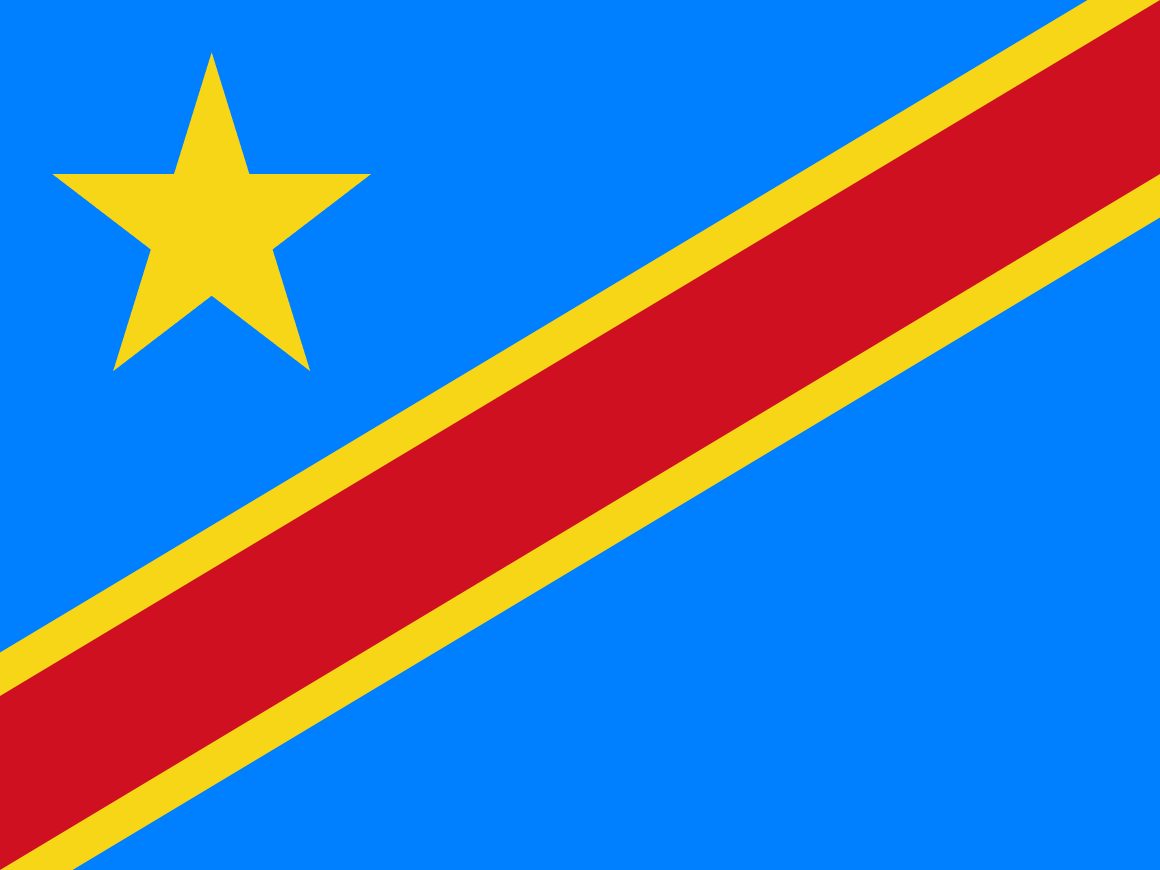 Congo The Democratic Republic of flag