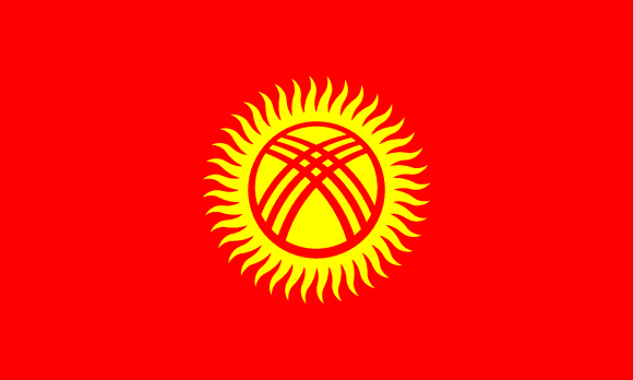 Image result for flag of Kyrgyzstan